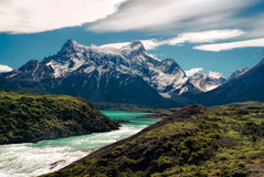 River in Torres del Paine Stock Images