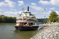River tour boat. River tour paddle boat runs the Mississippi, Cumberland and other rivers in the US, This tour is very popular with retired couples, tours can royalty free stock photo