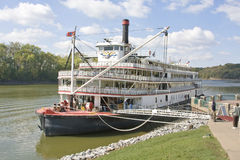 River tour boat. River tour paddle boat runs the Mississippi, Cumberland and other rivers in the US, This tour is very popular with retired couples, tours can stock photography