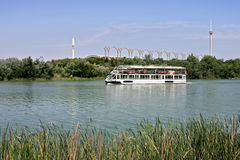River tour boat on the Guadalquivir in Seville Royalty Free Stock Photography