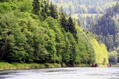 The Carpathian mountains. River tour on the Carpathian mountains Royalty Free Stock Images