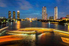 River Traffic Bangkok city Royalty Free Stock Photos