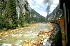 River Train. The Silverado train to Oray passing the river Royalty Free Stock Photography