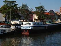 River transportation cargo vessels. Royalty Free Stock Image