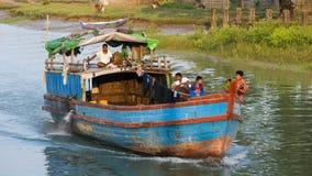 River transportation at the Rakhine State in Myanmar Stock Image