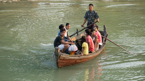 River transportation at the Rakhine State in Myanmar Royalty Free Stock Photography