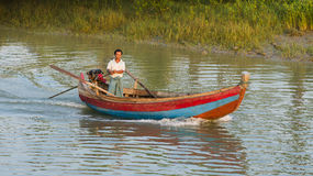 River transportation at the Rakhine State in Myanmar Royalty Free Stock Images