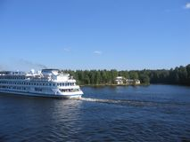 River travel. Water vacation stock photo