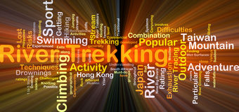 River trekking background concept glowing Stock Image