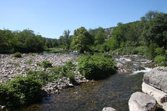 River tributary of the Ardeche in the south of France. Stock Images