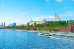The river trips of Moscow Royalty Free Stock Image