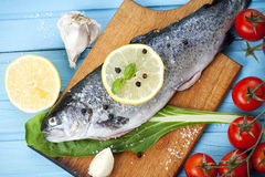 River Trout With Fresh Tomatoes, Lemon And Herbs Stock Image