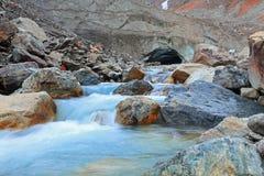River from  tsey glacier Stock Photo