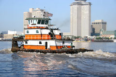 River Tug. A water work horse on the Mississippi in New Orleans Royalty Free Stock Images