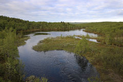 River in tundra Stock Images