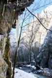 River - Turda Gorge - Cheile Turzii, Transylvania, Romania. River - Turda Canyon in winter (March) time. Turda Gorge - Cheile Turzii  is 6 km west of Turda and Royalty Free Stock Images