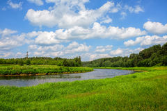The river Tvertsa. Tvertsa is a river in Tver oblast of the Russian Federation, a left tributary of the Volga (flows into her in the city Tver, Russia Royalty Free Stock Photo