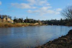 River Tweed and bridge at Kelso. Scotland Royalty Free Stock Photos