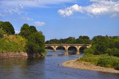 The river Tweed near Coldstream Stock Photography