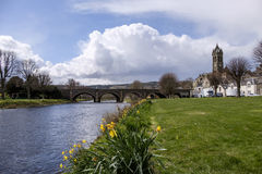 River Tweed Peebles Scotland Royalty Free Stock Image