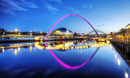 River Tyne with Bridges Stock Images