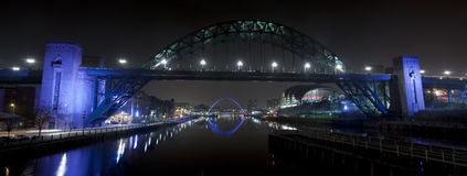 River Tyne at Night Royalty Free Stock Photo