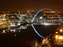 River Tyne at Night Royalty Free Stock Images
