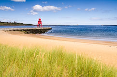 River Tyne strand på södra sköldar Royaltyfria Bilder