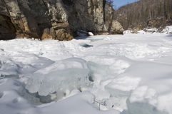 River Uda in winter, Siberia Royalty Free Stock Photos
