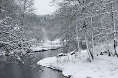 River Ula in winter Stock Photos