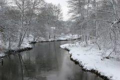 River Ula in winter Stock Photo