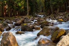 River Ullu-Murudzhu. In Dombai,Karachai,Cau casus,Russia Stock Photo