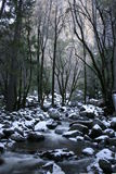 River Under Bridalveil Falls. In Winter Royalty Free Stock Photography