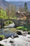 River under bridge Stock Photo