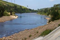 River under Kamchay dam Stock Photos