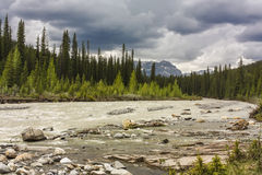 River Under Storm Clouds Royalty Free Stock Image