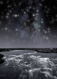 River Under The Stars Royalty Free Stock Images