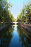 River. A river in a university, Beijing, China Stock Photography