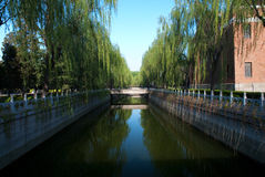 River. A river in a university, Beijing, China Stock Photos
