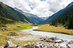 River up in mountains Royalty Free Stock Photo