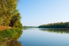 River Ural, Uralsk city, Kazakhstan Stock Photos