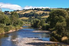 River Usk in Wales UK Royalty Free Stock Photography