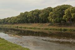 River Uzh in Uzhhorod Royalty Free Stock Photo