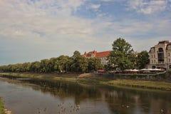 River Uzh in Uzhhorod Royalty Free Stock Images