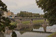 River Uzh in Uzhhorod Royalty Free Stock Image