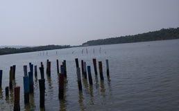 River v-pra park kerala India. River v-pra park merl kerala india stock image