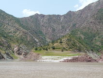 The River Vakhsh In Tajikistan Royalty Free Stock Images