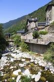 River Valira d'Orient. In Encamp, Andorra Royalty Free Stock Photos