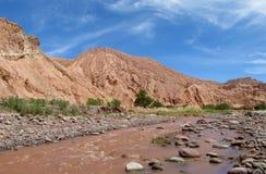 River in valle Quitor, San Pedro de Atacama desert stock photos