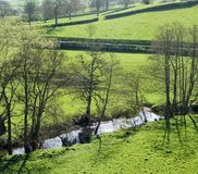 River valley. Clun shropshire the midlands england uk Stock Images
